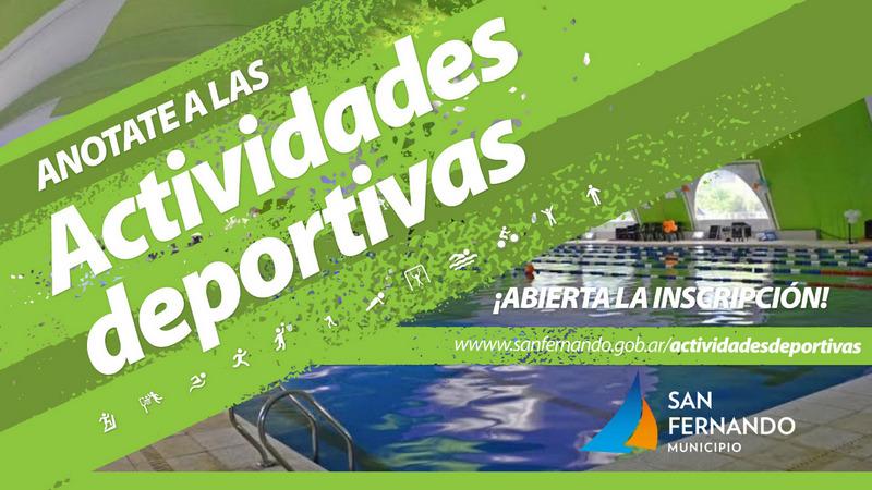 Comenzó en San Fernando la inscripción online para las actividades deportivas anuales