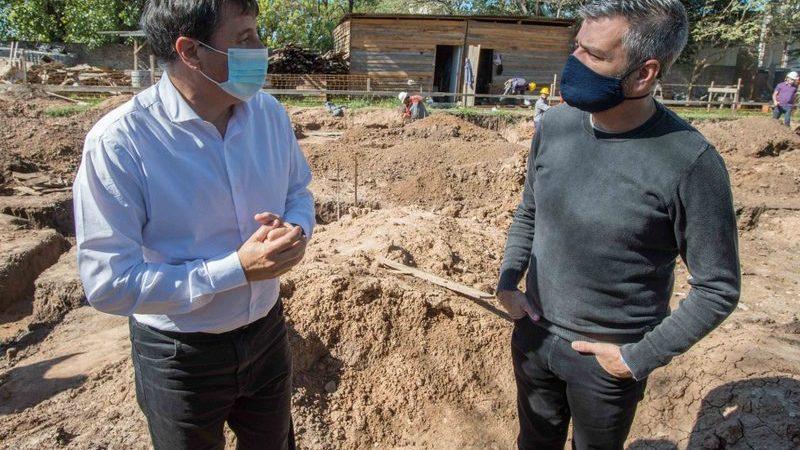 Zabaleta y Arroyo recorrieron la obra de un nuevo Espacio de Primera Infancia que se construye en William Morris