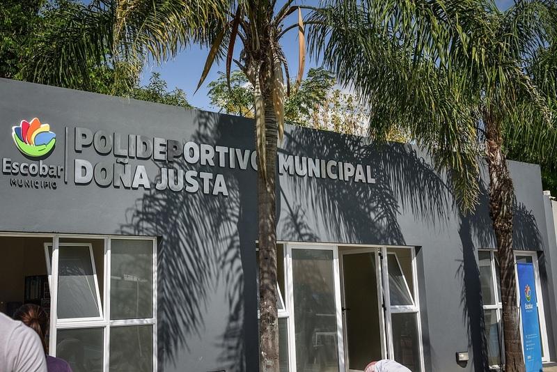 La Municipalidad de Escobar y el Gobierno Nacional siguen adelante con las obras de revalorización de los polideportivos municipales