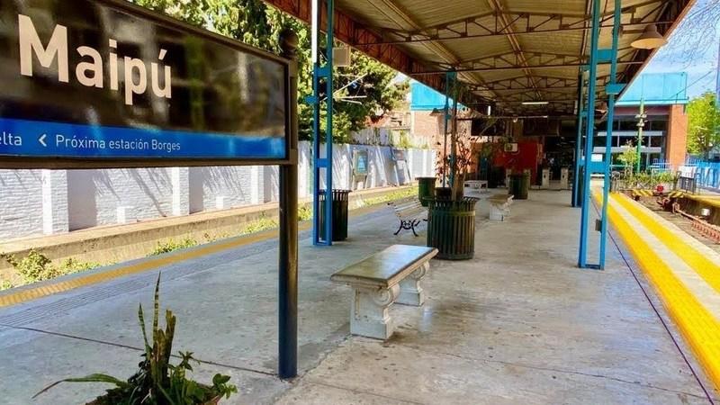 Trenes Argentinos continúa avanzando en la puesta en valor de la  Estación Maipú del Tren de la Costa.