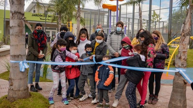 Juan Andreotti inauguró la Plaza del Barrio San Jorge en Virreyes