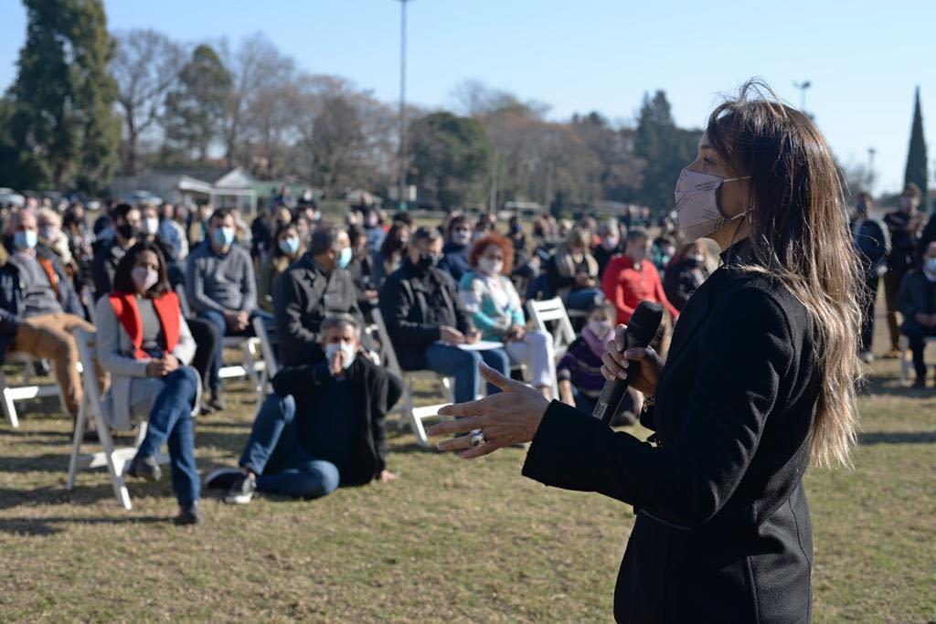 """Malena Galmarini encabezó el plenario del Frente de Todos en Tigre : """"Seguimos el ejemplo de Alberto, Cristina, Axel y Sergio, trabajamos para fortalecer la unidad"""""""