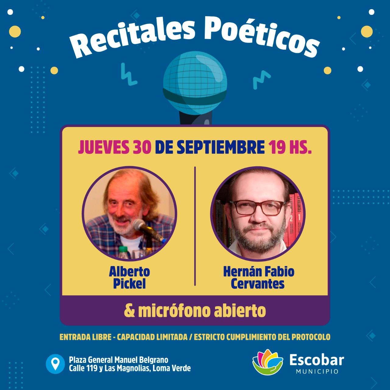 Escobar, continúa el exitoso Ciclo de Recitales Poéticos 2021