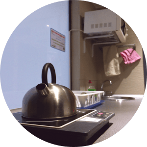 tea kettle at acyh barcelona kitchen