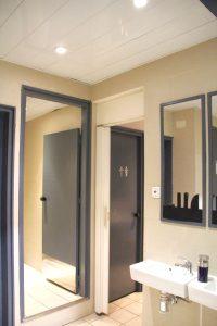 clean hostel bathroom