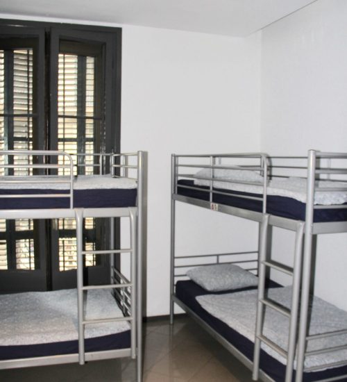 hostel dormitory beds