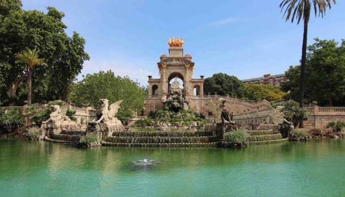 fountains in parc de la citadella barcelona