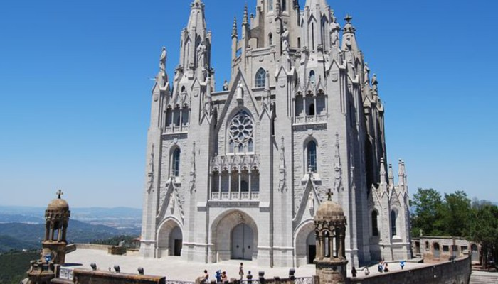 castle of tibidabo on a sunny day
