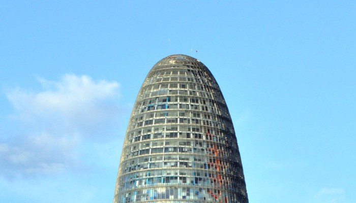 exterior of the torre agbar