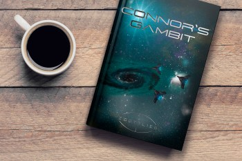 book cover and coffee