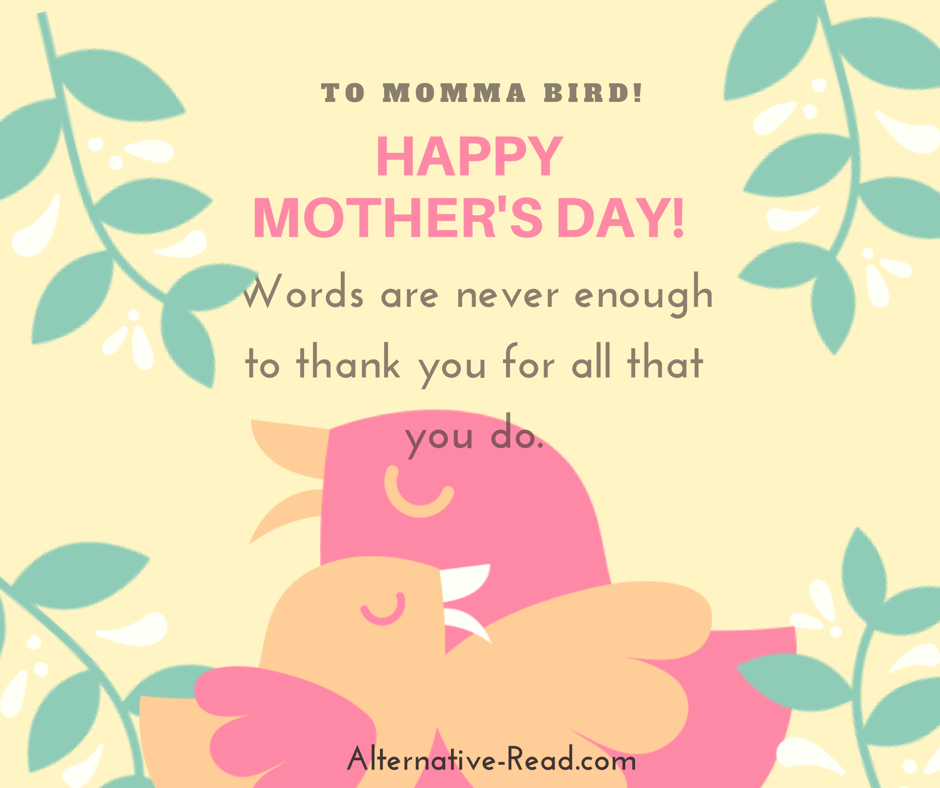 Happy Mother's Day from Alternative-Read.com