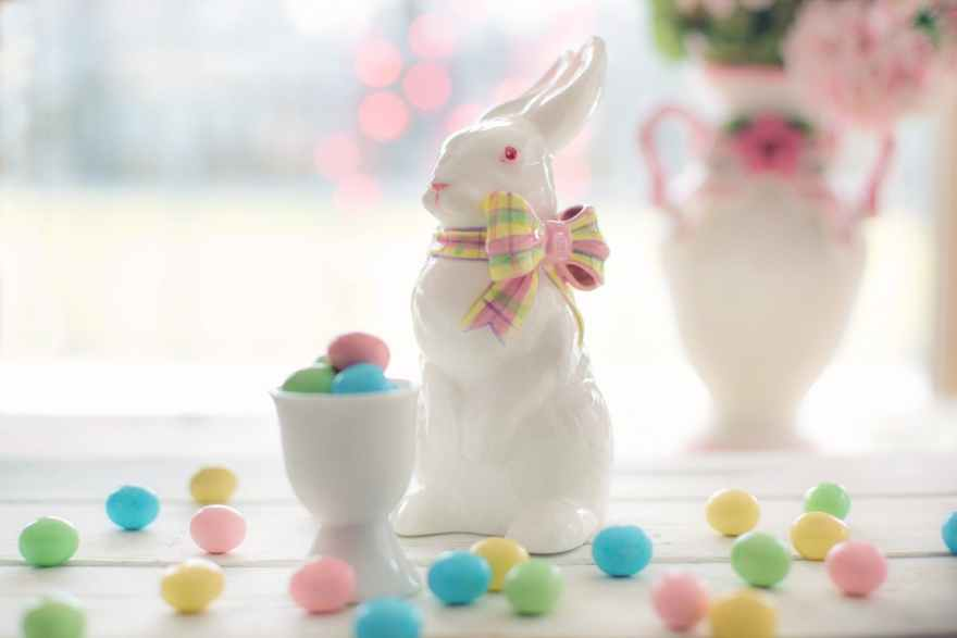 Happy Easter says the Easter Bunny