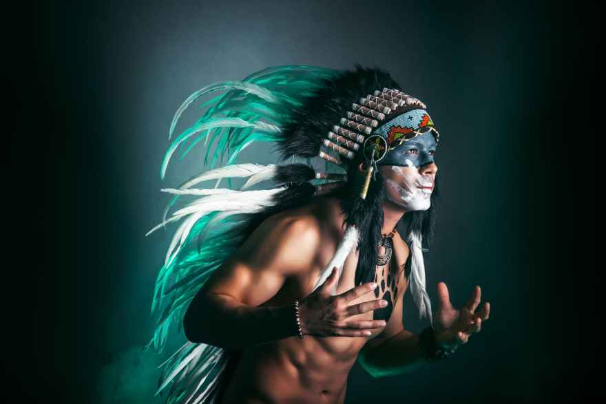 native american chief photography