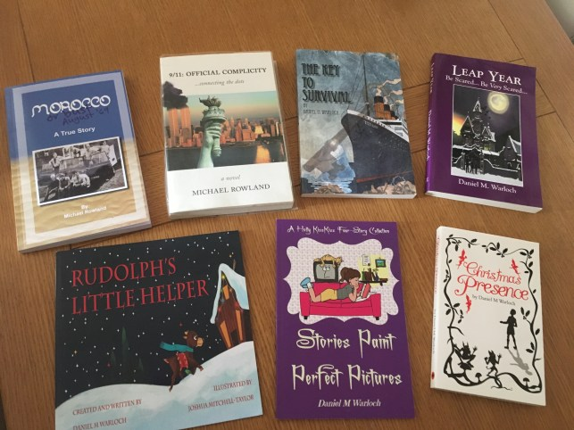 Author Michael Rowland's Desk