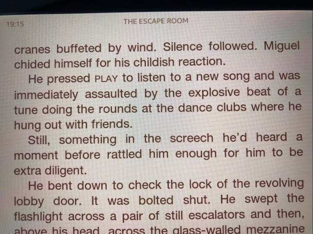 The Escape Room by Megan Goldin #bookbeginnings #friday56