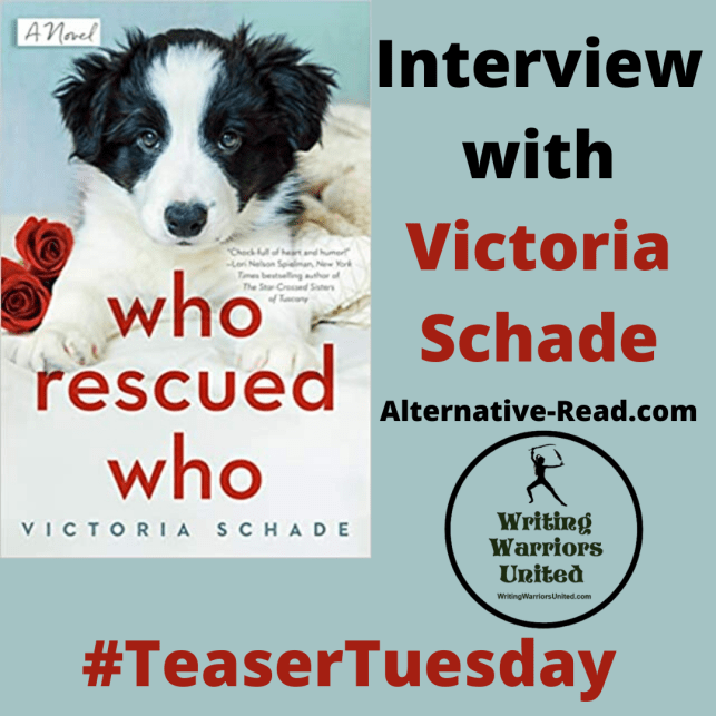 #TeaserTuesday - Interview with Victoria Shade- author of Who Rescued Who