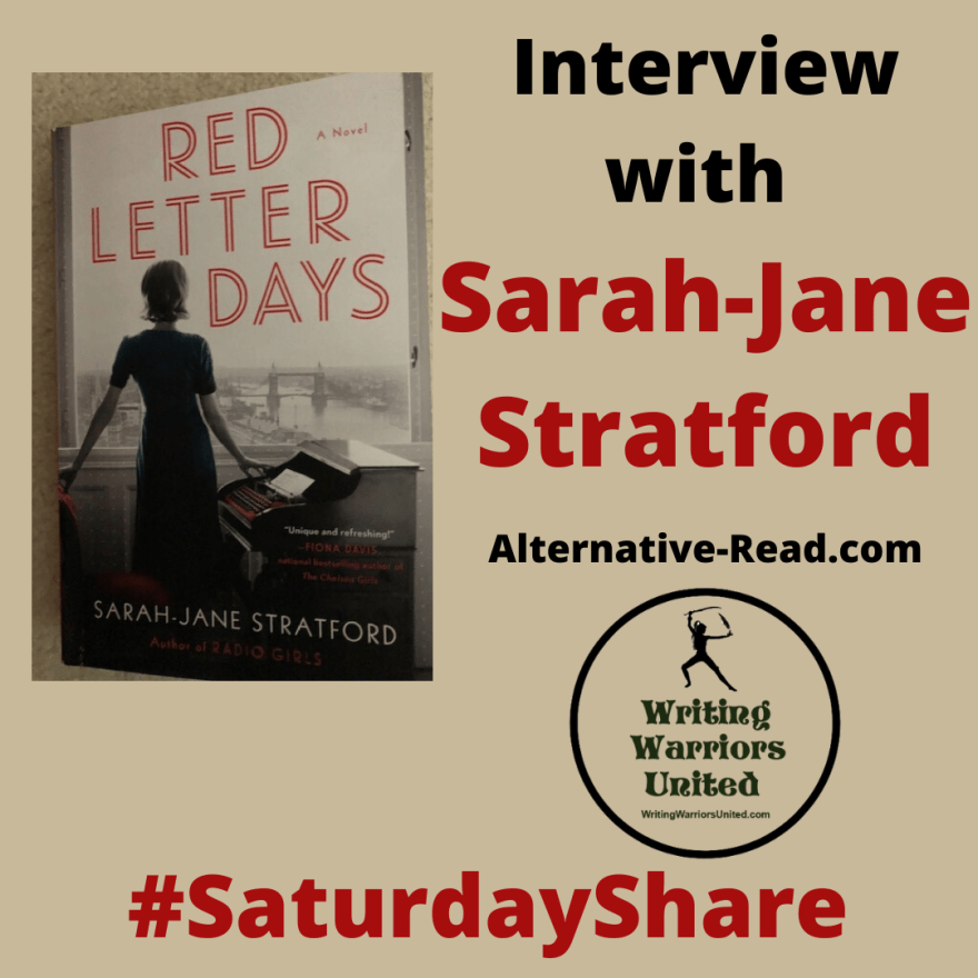 #SaturdayShare Interview with Sarah-Jane Stratford - Red Letter Days