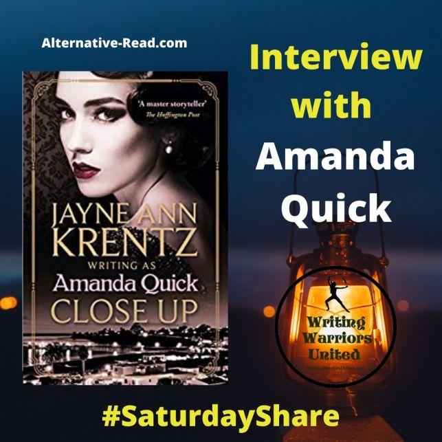 Interview with Jayne Ann Krentz as Amanda Quick #SaturdayShare