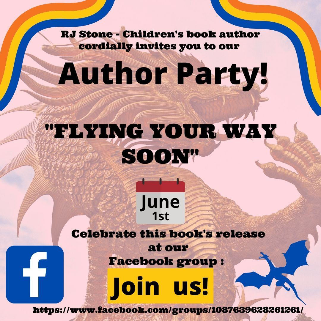 RJ Stone - Children's Book Author Facebook Party Event