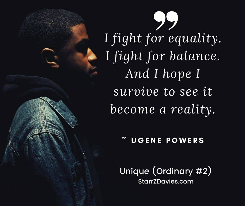 Unique (Ordinary #2) by Starr Z Davies #unique #novel #blacklivesmatter