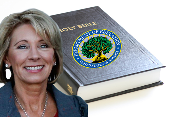 BetsyDeVos Wants Sixth Grade Science Textbooks Replaced With The New Testament
