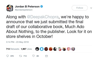 jordan peterson deepak chopra book