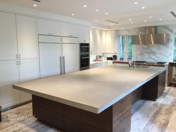 concrete kitchen island Pour In Place Kitchen Island Concrete Countertop Custom
