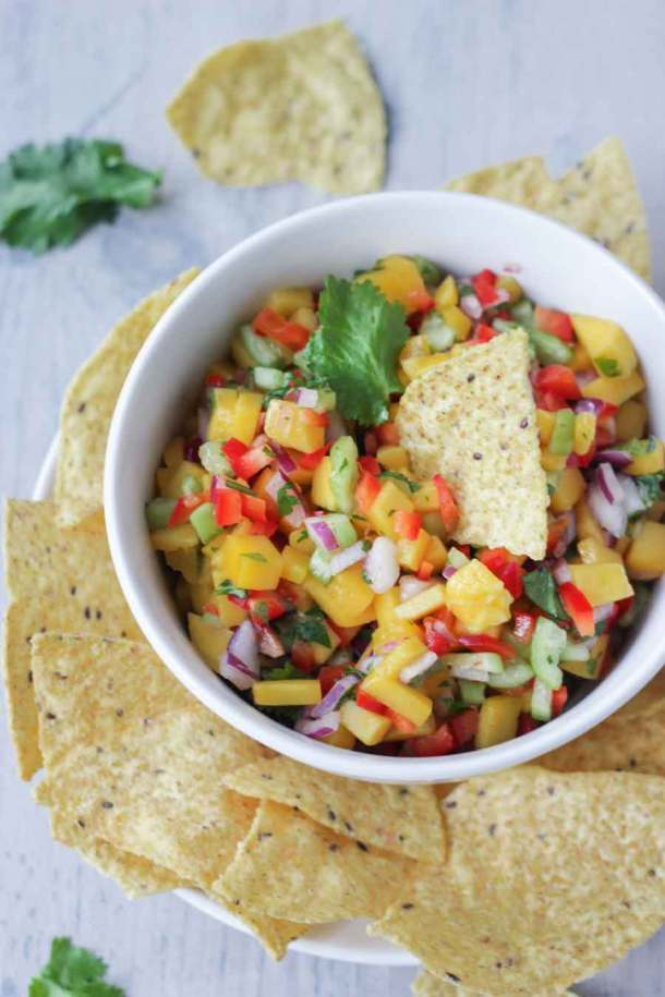 Mango Salsa with Chips