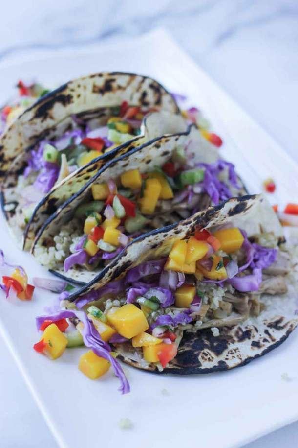 Jackfruit Tacos with Mango Salsa