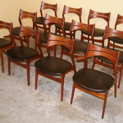 Erik Buck Chairs Cheap Black Glass Table And Teak Dining