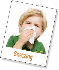 Sneezing is only one symptom of allergies