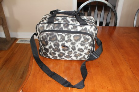 suitcase, leopard print, packing, vacation