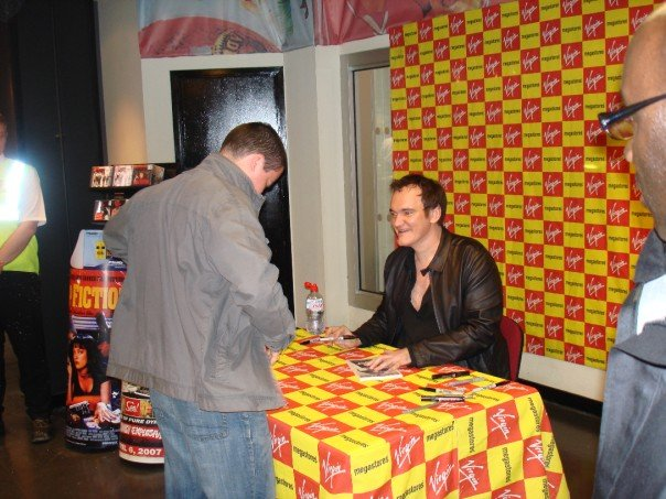 Martin meeting director Quentin Tarantino at a book signing in  Liverpool, September 2007.