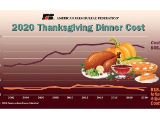 Thanksgiving dinner cost 2020