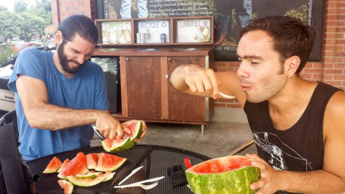 There's more than one way to eat a watermelon.