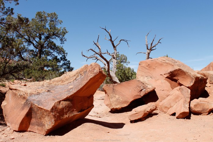 The area is also known as Red Rock Desert, for obvious reasons.