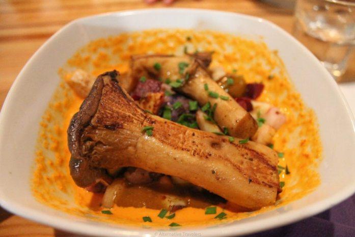 Zest oyster mushroom stew