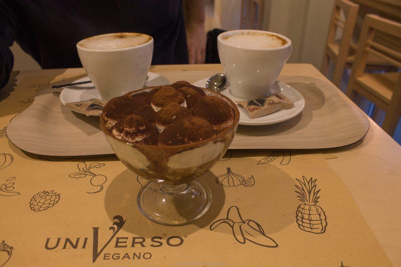 Vegan Tiramisu in Florence at Universo Vegano