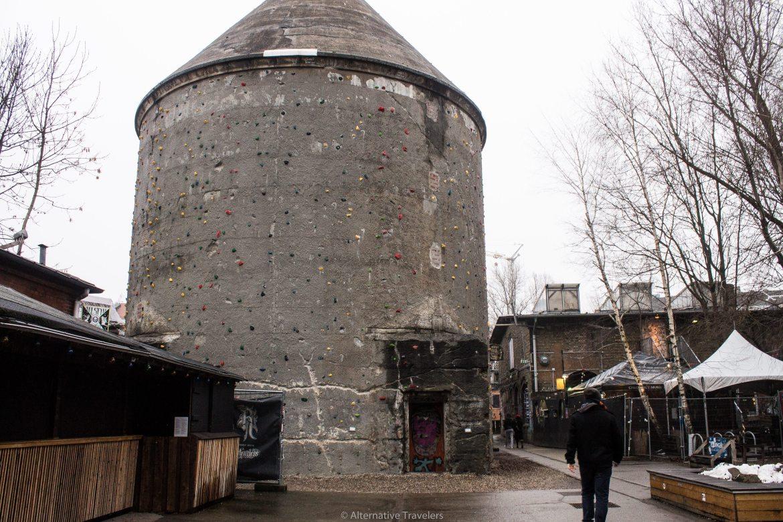 Old bunker turned climbing wall in Berlin | AlternativeTravelers.com