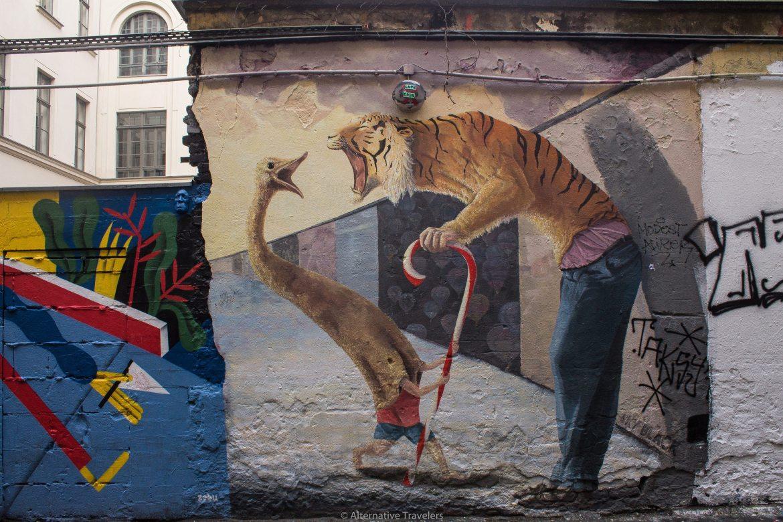 Mural in Dead Chicken Alley in Berlin | AlternativeTravelers.com