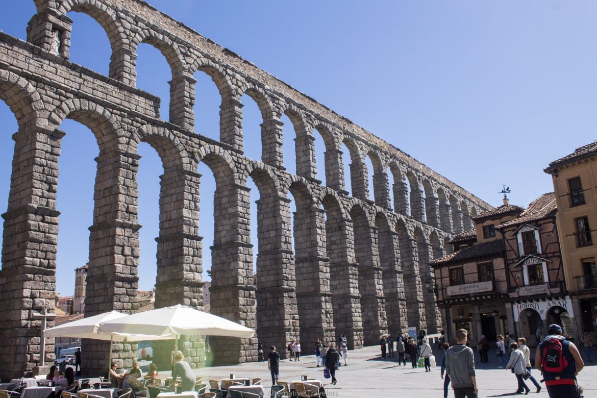 Day trip to Segovia from Madrid - A UNESCO World Heritage site with a Roman aqueduct, a fortress, winding streets, and a beautiful countryside.
