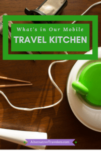 Mobile Travel Kitchen: Essential items to make cheap and easy meals while on the road.