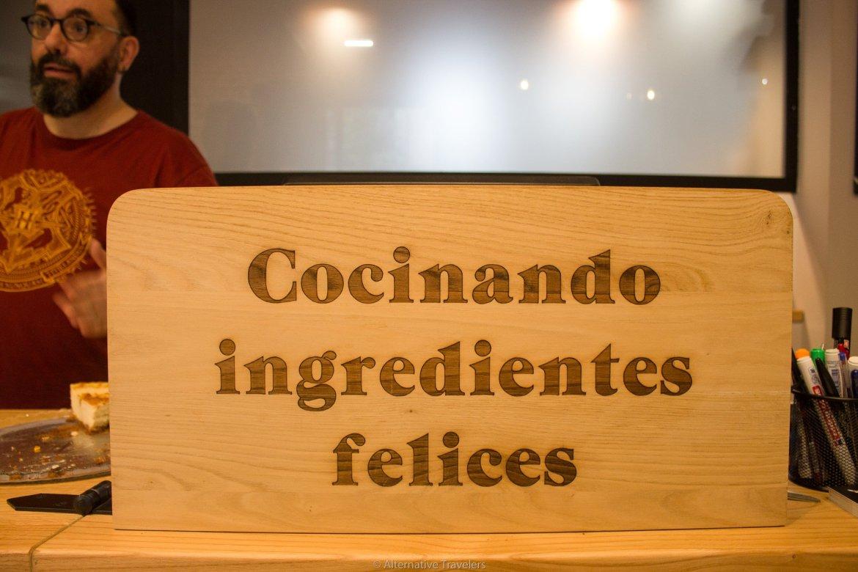 Cocinando Ingredientes Felices - Cooking Happy Ingredients at Landareak restaurant