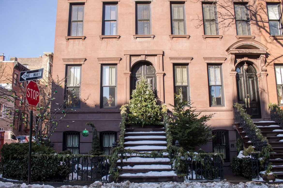 Christmas tree in West Village, NYC