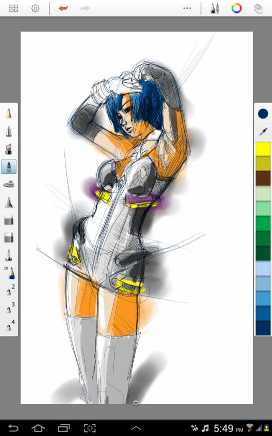 Autodesk Sketchbook Pro  Aoi Yeux