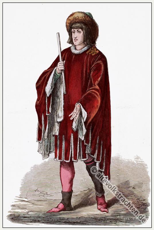 Fürst, Burgund, Mittelalter, Kleidung, Kostümgeschichte, Modegeschichte