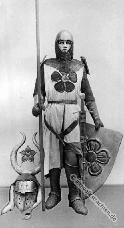 Mittelalter, Ritter, Ritterrüstung,  Karl Gimbel, Kettenpanzer, Ringelpanzer, Brünne, 13. Jahrhundert