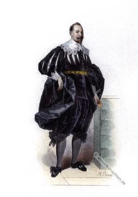Gustav II. Adolf. 17. Jahrhundert Mode. Barock Kostümgeschichte