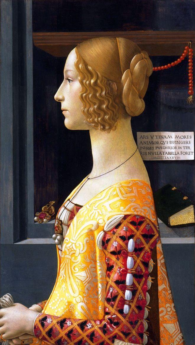 Domenico Ghirlandaio, Portrait, Giovanna Tornabuoni, Mode, Mittelalter, Italien,