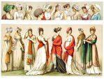 Empire Mode und Frisuren von 1800 bis 1810.